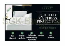 Single Size Quilted Mattress Protector Sheet Matress Cover Machine Washable Gift