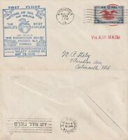 US 1938 FIRST FLIGHT AIR MAIL FLOWN COVER AIR MAIL WEEK WINCHESTER TO WASHINGTON
