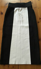 BALMAIN Paris H&M Rock Skirt schwarz weiß EUR Gr 34 size US 4 size UK 8