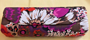 Vera Bradley Eye Glasses Case Floral w/Animal Print Interior Magnetic Closure