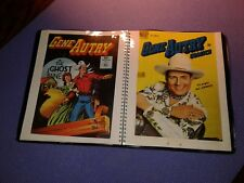 GENE AUTRY COMIC BOOK COVER COLLECTION LOT IN BINDER (28 PIECES)