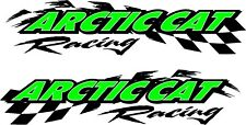 "Arctic Cat racing checker snowmobile 2 sticker decal set 11""x48"""