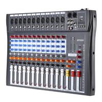 CT-120S 12 Channel Professional Live Studio Audio Mixer USB Mixing Console V6C3