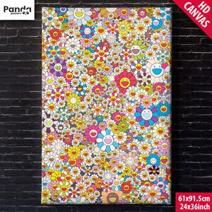 Takashi Murakami Canvas Poster 60x90cm/24x36in Poporoke Forest Flower Art Print