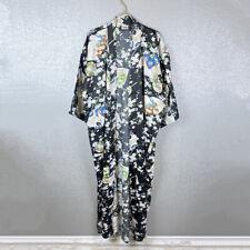 Geisha Print Kimono One Size Women's Robe Lounge Sleepwear