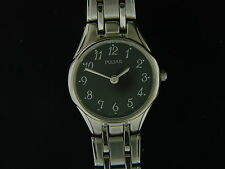 NEW PULSAR LADIES STAINLESS STEEL WATCH W/ BLACK DIAL PTA249X AUTHORIZED DEALER