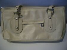 VINTAGE CARTERAS  MADE IN CHILE  IVORY LEATHER LADIES HAND BAG PURSE  NICE
