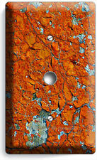 Rustic Cracked Rust Rusted Light Dimmer / Cable Wall Plate Cover Man Cave Garage