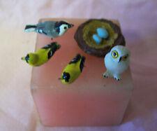Dollhouse Wildlife Accessories - Bird Nest, 3 Birds, & Owl with pins in each A1