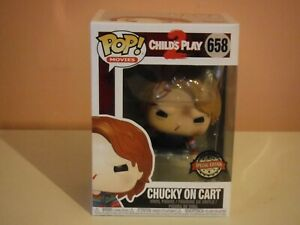 FUNKO POP! CHILDS PLAY 2 - CHUCKY ON CART SPECIAL EDITION #658