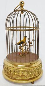 Karl Griesbaum Singing Working Bird Cage Birdcage German Automaton Vintage
