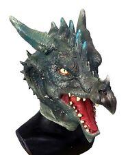 Green Dragon Maschera Gioco di Ruolo lattice cosplay costume Halloween Fantasia