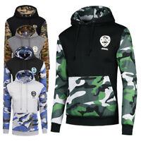 Men Camouflage  Hooded Sweatshirt Long Sleeve Warm Pullover Hoodies Casual Coat