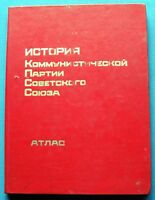 1977 Atlas History CPSU Communism Propaganda КПСС Lenin USSR Soviet Russian Book