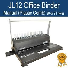 New Manual Home Office Plastic Comb Binder / Binding Machine 21 holes JL12-White