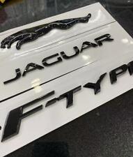 3x Glossy Black Emblem Rear Badge Decal For Jaguar 2017 F Type V6 R S F Type