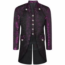 12 Colours Men's Steampunk Tailcoat Jacket Gothic Victorian Coat With Waistcoat
