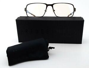Freudenhaus Glasses Model One 02 Moc 57-17 140 Dark Brown Titanium Frame c2008