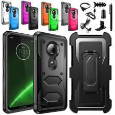 For Motorola Moto G7 XT1962 / G7 Plus XT1965 Holster Belt Clip Stand Case Cover