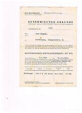 Consejo del círculo Gardelegen, unidad de transporte, taxi-autorización 1958 (Hans gängel)