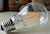 LED Vintage Light Bulb Antique Retro Amber Filament Squirrel Cage Decorative UK