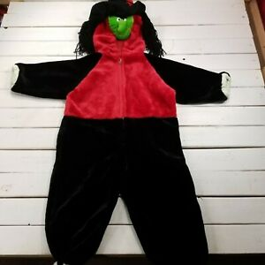 Halloween Monster Wicked Witch Costume Child Girl Medium 3-4 Outfit Full Zip