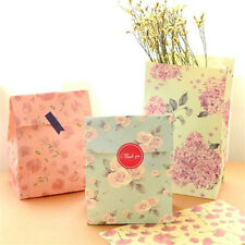 FD2446 Candy Floral Flower Paper Bag Gift Bag Gift Wrapping Paper ~1 Set 3PCs~
