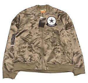 Nike Womens On Field Apparel Salute to Service Dallas Cowboys Bomber Jacket Sz L