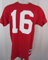Mitchell & Ness  #16 Montana Front Side Only Throwback T shirt Red