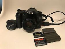 Canon EOS 40D 10mp Digital SLR Camera, 50mm F/1.8 lens, Flash card + more