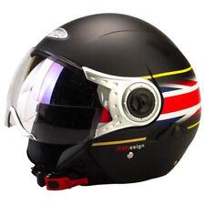 Viper RS-V18 DVS Open Face Helmet  MATT BLACK / Union Jack  DARK INNER VISOR rsv