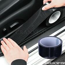 5CM Carbon Fiber Car Door Plate Sill Scuff Cover Anti Scratch Sticker Protector