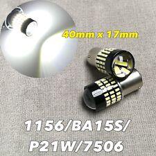Front Turn Signal 1156 BA15S 7506 1141 3497 P21W 78 SMD LED White Bulb W1 JAE