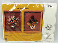 Creative Circle Embroidery Kit 0541 Cattails & Daisies 1984 USA Stitchery Crafts