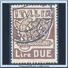 1923 Italia Regno Marcia su Roma Lire 2 bruno n. 145 Usato