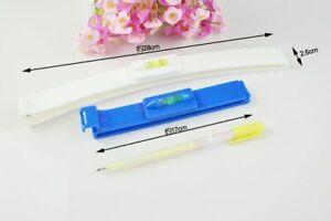 2pcs Professional Bangs Hair Trim Cutting Clip Comb Hairstyle Tool Crea Ruler