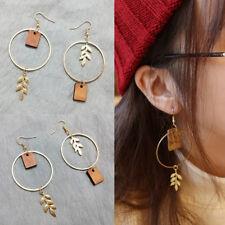 Women Handmade Dangle Drop Hook Leaf Earrings Ear Studs Wedding Jewelry Gift