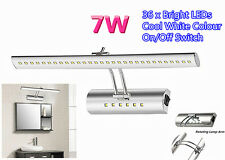 7W 36xLED Bathroom Cabinet Makeup Wall Mirror Front Light Lamp Cool White Switch