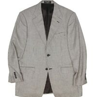 Nordstrom Mens Sport Coat 40R (42R) Black Gray Houndstooth Loro Piana Cashmere