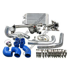 Turbo Kit Downpipe Intercooler Manifold For 1997-2001 Nissan FRONTIER KA24DE T3