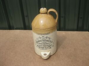 Old Antique Printed Ginger Beer Bottle Flagon London Maidstone Brewery Kent