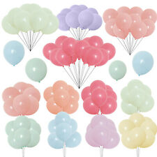 """100 Quality Pastel Balloons 10"""" Macaron Candy Latex Many Colour Party Decor"""