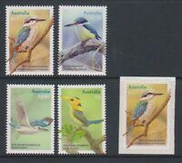 Australia - 2010, Kingfishers, Birds set - MNH + Self Adhesive stamp- SG 3505/9