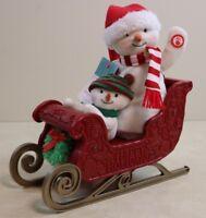 Jingle Pals SLEIGH Musical Lighted New 2016 Hallmark Christmas Snowman Animated