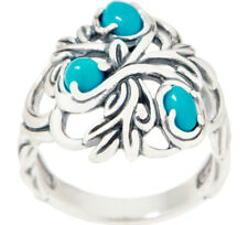 Carolyn Pollack Natural Beauty Sterling Silver Turquoise Ring Size 9