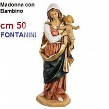 Statua religiosa FONTANINI madonna con bambino cm 50 in resina arte sacra santi