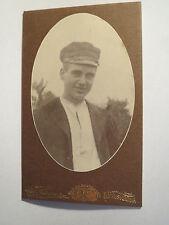 Karlskrona - Mann mit Mütze - Portrait / CDV Schweden