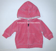 CARTER'S – JACKET - HOODIE with EARS - ZIP UP - PINK – INFANT –SZ 3 MO – A+ COND