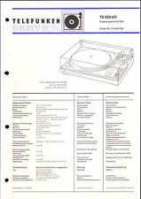 Telefunken Service Manual für TS 950 hifi mit IC 204 Ergänzung zum Hauptmanual