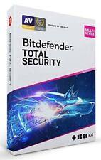 Bitdefender Total Security 2021  5 Devices 3 Years Genuine Unique Retail Key VPN